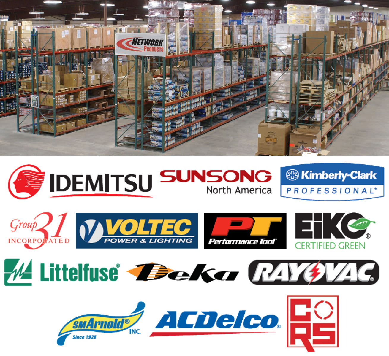 Network Products Warehouse Composite Image